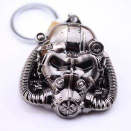 Car games boys online shopping - FALLOUT Game peripherals Vault Boy Radiation mask action figures car Decoration Birthday Day Gift Alloy Keychain