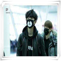 2018new Kpop Exo Team Logo Wholesale Kpop Dust Cotton Mouth-muffle Dammskydd Maschere Antipolvere Masques Men's Earmuffs Apparel Accessories
