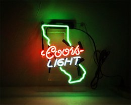 Coors Beer Neon Sign Australia - New Star Neon Sign Factory 14X9 Inches Real Glass Neon Sign Light for Beer Bar Pub Garage Room Coors Light California.