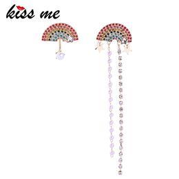 $enCountryForm.capitalKeyWord Australia - Earrings For Women Asymmetric Rhinestone Fan Shape Long Earrings Party Fashion Accessories