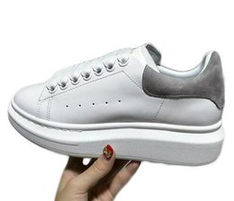 Chinese  2019 Casual Spring Womens Flat Platform Shoes White Sneakers Leather Tenis Designer Luxury Thick Bottom Platform Shoes Lady Breathable manufacturers