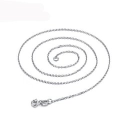 925 Silver Chain 22 Australia - 925 Sterling Silver Link Rolo Chains Necklace with Lobster Clasps 16 18 20 22 24Inch Women O Chain Jewlery Factory Price Stock Fast Shipping