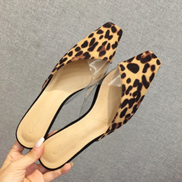 $enCountryForm.capitalKeyWord Australia - Cute2019 Leopard Year Print Sandals Woman Flat Bottom Level With Back Air Women's Shoes