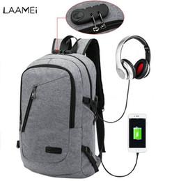 $enCountryForm.capitalKeyWord Australia - Laamei Backpack Men School Student Loptop Backbags for IPAD Gift USB Backpack Travel Daypacks Mochila Hombre Back Pack For Male #34660