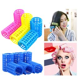 $enCountryForm.capitalKeyWord Australia - tyling Tools Rollers Hair Rollers Spring Clips Double Layers Plastic Random Color Curler DIY Wavy Grip Cling Hairdressing Barber Hair St...