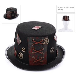 Pirates carnival costumes online shopping - New Fashion Medieval Steam Punk Hats Vintage Carnival Party Halloween Cosplay Prop Hats Pirate Anime Hat Costume Party Caps Party Supplies