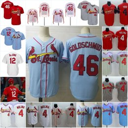 St cream online shopping - Mens Yadier Molina Jersey Stiched Red Cream white Grey Paul DeJong Jersey Paul Goldschmidt St Louis Jersey S XL