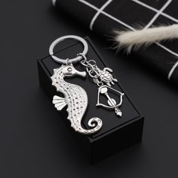 turtle purses Australia - New Punk Sea horse turtle KeyChains Charms key rings Fashion Women Purse Jewelry Keyholder Free Shipping