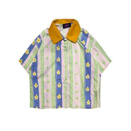 $enCountryForm.capitalKeyWord UK - women striped floral print vintage short shirts Korean girls student sweet candy baggy shirts ladies street old school funny shirts