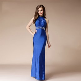 turkish party dresses UK - New Formal Dress Women Elegant Evening Dresses Long Sexy Beaded Turkish Evening Dresses Blue Womens Mermaid Dress For Party 2019