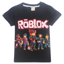 1c7afc94a1 5color Roblox T-shirt Boys Clothes 6-14 years old Children Baby Girl Tops  Tshirt Summer Infantis zxoo3