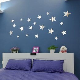 $enCountryForm.capitalKeyWord Australia - 20PCS DIY Star Art Mirror Wall Sticker Acrylic wall stickers for living room bedroom Stickers muraux Adesivos de parede july31