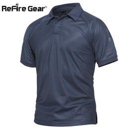 $enCountryForm.capitalKeyWord Australia - Refire Gear Men Military Polo Shirt Breathable Army Combat Tactical Polo Male Navy Blue Quick Dry Short Sleeve Polo Shirts S-5xl Q190428
