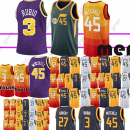 Donovan 45 Mitchell jerseys Ricky 3 Rubio John 12 Stockton 27 Gobert 2  Ingles Grayson 24 Allen jersey Malone Earned Edition 2019 new ac1d57091