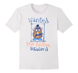 $enCountryForm.capitalKeyWord Australia - Pixar Mr. Potato Wanted Poster T-Shirt Fashion Print T Shirt Plus Size Cartoon Hip Hop Shirt Top Tee Harajuku