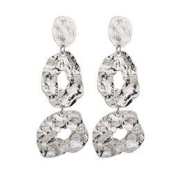 $enCountryForm.capitalKeyWord UK - Hot Fashion Gold Metal Dangle Earrings For Women Statement Punk Gift Party Jewelry Wedding Charm Vintage Trendy E101