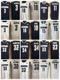 8ad56b64838 El Jersey NZ - Men Uconn Huskies Basketball Jersey 15 Kemba Walker 11  Boatright 32 Hamilton