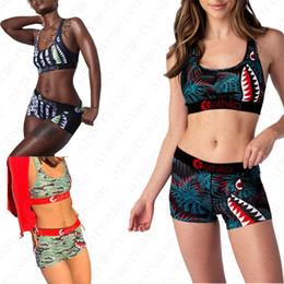 Wholesale hot bikinis for sale – plus size Women Swimsuit Push Up Bra Shorts Piece Set woman girls Swimwear Sexy Bikini Shark Beach Swimming Bathing Suits hot D51901