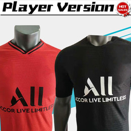 Logos soccer online shopping - 2019 Player Version New Logo MBAPPE NEYMAR JR Black Soccer Jerseys player version Red Soccer Shirts Men Football Uniforms
