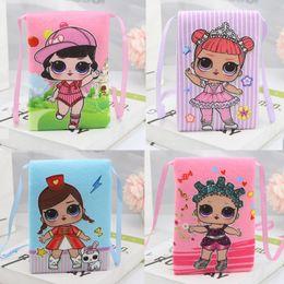 Cute satChel baCkpaCks online shopping - Surprise Girls Mini Shoulder Package Cute Cartoon Princess Girls Satchel Coin Purse Children Storage Handbags Zipper Neck Hang on Bag C51704
