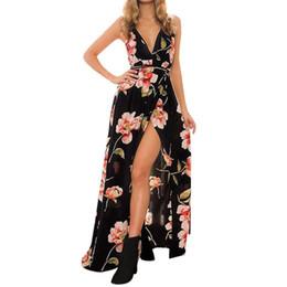 4acb4db519826 Bohemian style Womens Holiday Strappy dress Elegant Ladies Maxi Long Summer  Boho Print Beach Dress Sundress vestidos de festa