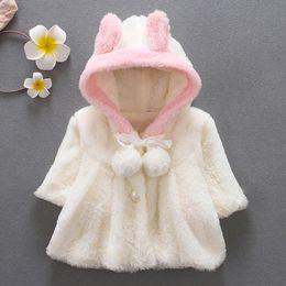 BaBy Boy velvet jacket online shopping - Autumn Baby Warm Jacket Winter Plus Velvet Fashion Fleece Baby Boy Girl Coat Years Children Clothes Outerwear