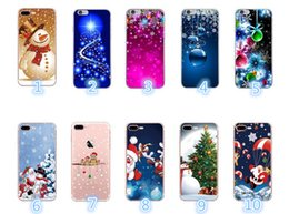 elderly mobile phones 2019 - mobile phone shell for Christmas elderly elk Mobile Phone case snowflake gift TPU soft shell for Mobile Phone case For i