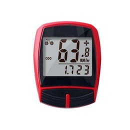 odometer bike Australia - Odometer Stopwatch Magnet Clear Wired Sensor Accessories LCD Display Bicycle Speedometer Backlight Digital Cycling Computer Bike