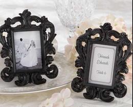 $enCountryForm.capitalKeyWord UK - Wholesale- Free shipping 12*9cm Black and White Resin Baroque Photo Frame Frames Elegant Place Card Holder or Picture Frame 1set