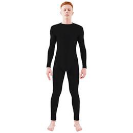 0e1f92b979fd Ensnovo Mens Long Sleeve Zipper Back Full Body Suit Ballet Dancewear  Unitard Costumes Full Body Tights