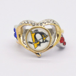 Pittsburgh Rings NZ - Fashion Lady Ring Pittsburgh Penguin Champion Ring Women's Ring Manufacturer Fast Shipping