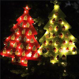 $enCountryForm.capitalKeyWord NZ - DIY Christmas Tree LED Light Calendar Advent Countdown Ornament Xmas Decoration Felt Calendar Wall Hanging Supplies