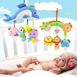 giraffe toys Australia - Newborn Toys Soft Cute Plush Kids Cartoon Animal For Baby Rattle Mobile Stroller Hanging Infant Bed Developmental Toys Giraffe CJ191216