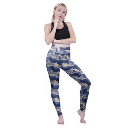 $enCountryForm.capitalKeyWord Australia - Lady High Waist Leggings Blue Dachshunds 3D Graphic Full Printed Full Length Trousers Girl Sports Yoga Pants Woman Soft Pencil Fit (Y601898)