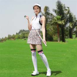 $enCountryForm.capitalKeyWord Australia - PGM Women's Golf Skirt Lady Sleeveless T-shirt Ultra-thin Sportswear Leisure Sport Tennis A Skirt Slim Comfortable Breathable