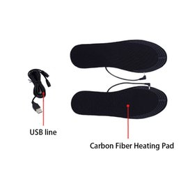 $enCountryForm.capitalKeyWord Australia - Shoe Pad Carbon Fiber Washable Winter Reusable Insoles Black Electric Heated USB Comfort Foot Warmer Cuttable Dirt Proof
