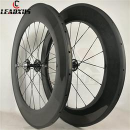 $enCountryForm.capitalKeyWord Australia - LEADXUS Full Carbon Fiber 88mm Track Wheels Fixed Gear Carbon Wheels 23mm Width Single Speed Carbon Bike Wheelset