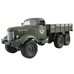 $enCountryForm.capitalKeyWord UK - Remote controlled car JJRC Q60 RC 1:16 2.4G Remote Control 6WD Tracked Off-Road Military Truck Car RTR Toy + Two Battery D300122