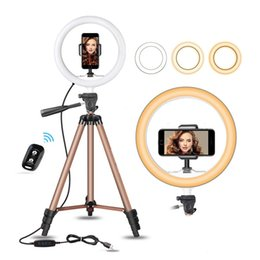 $enCountryForm.capitalKeyWord Australia - 10-inch self-timer ring light with 50-inch expandable tripod and flexible phone holder for iPhone Android compatible live makeup