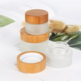 $enCountryForm.capitalKeyWord Australia - 15g 30g 50g Eco Natural Bamboo Wooden Lids Frosted Glass Bottle Travel Set DIY Herbal Sample Face Cream Jars Pot Empty Cosmetic Container