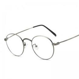 456d110b26c Women Metal Frame Plain Mirror Big Optical Frame Eyeglass Unisex Fashion  Vintage Glasses Retro Clear Lens LLA256