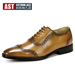 b9ee5f6dcd4 Plus Size 11 12 Wing Tips Brogue Shoes Men Full Grain Leather Pointed Toe  Classical Oxfords Business Man Elegant Wedding Shoes
