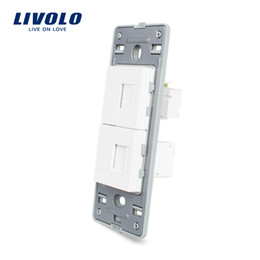 Function Connectors Australia - Livolo US Standard DIY Parts Plastic Materials Function Key Wall switch socket base, 1 Gang Telephone Socket Base