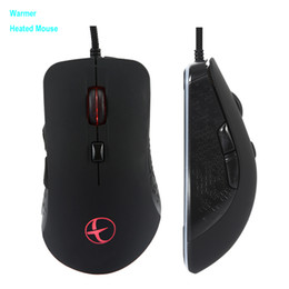 Windows Usb Mouse Australia - Wired Warmer Heated Mouse For Windows PC Games USB 2400 DPI With 6 Buttons Wired Gaming Silent Mouse For Laptop Notebook