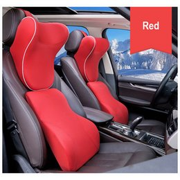 Discount headrest cushions for car - U Shape Car Headrest Neck Rest Pillow Fabric Memory Foam Waist Lumbar Support Sets Cover Cushion For Auto Seats Accessor