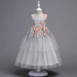 $enCountryForm.capitalKeyWord Australia - 2019 New Arrival Kid Girls Wedding Pearl Petals Girl Dress Princess Party Pageant Long Sleeve Lace Tulle for 3 4 5 6 7 8 9 10 Yrs