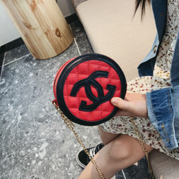 $enCountryForm.capitalKeyWord NZ - kids hangbag Brand New 2019 five colors girls Bags designer crossbody bag Diamond lattice Round Purse