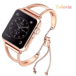Apple Needle Australia - Yolovie Women Band For Apple Watch 38mm 42mm 40mm 44mm Stainless Steel Strap Fashion Metal Bracelet For Iwatch Series 4 3 2 1 T190620