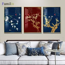 modern chinese wall decorations 2019 - Chinese red palace wall art Canvas Painting Art Print Poster Picture Wall Modern Minimalist Bedroom Living Room Decorati