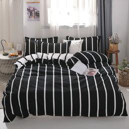 Sheet california king Size online shopping - MENGZIQIAN The New bedding set NORDIC Fashion High Quality Multiple sizes stripe quilt sheet Pillowcase